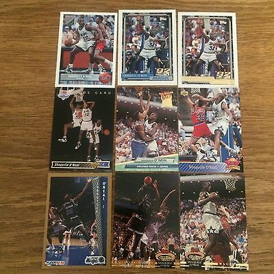 Lot Of 9 Shaquille O'neal Rc Rookie Gem Mint Rare Cards!!!