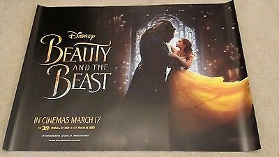 2 x BEAUTY AND THE BEAST 2017 CINEMA QUAD POSTER