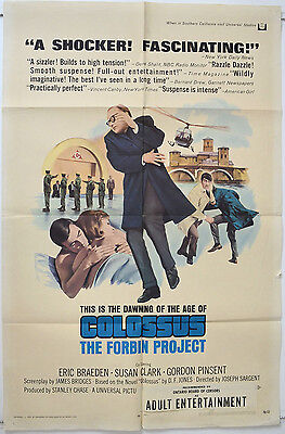 COLOSSUS : THE FORBIN PROJECT (1970) Original 1-Sheet Film Poster - Eric Braeden