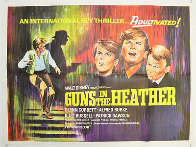 GUNS IN THE HEATHER (1969) Cinema Quad Movie Poster - Kurt Russell, Glen Corbett