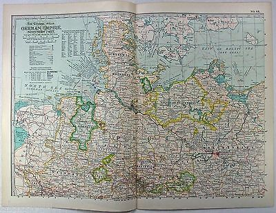 Original 1897 Map of The Northern Part of The German Empire by The Century Co.