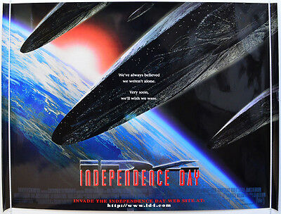 INDEPENDENCE DAY (1996) Original Quad Movie Poster - Will Smith (Teaser Vers 2)