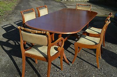 Yew Dining Room extender Table and 6 Chairs