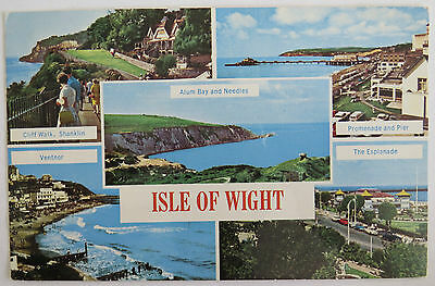 Postcard Isle Of Wight Multiview. Alum Bay, Ventnor. Posted 1979