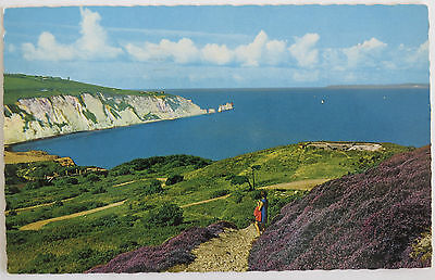 Postcard Isle Of Wight. Alum Bay And The Needles. Posted 1972