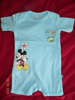 Combishort Mickey Taille 6 Mois+ 1 Cars Cadeau