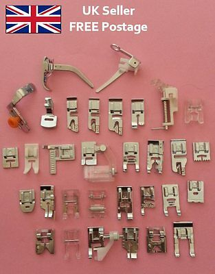 Snap on Sewing Machine Presser Feet Foot Universal for Brother Janome Singer etc
