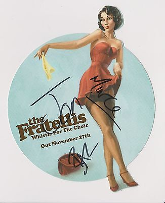 "7"" the FRATELLIS -  AUTOGRAPHED PROMO DISPLAY"