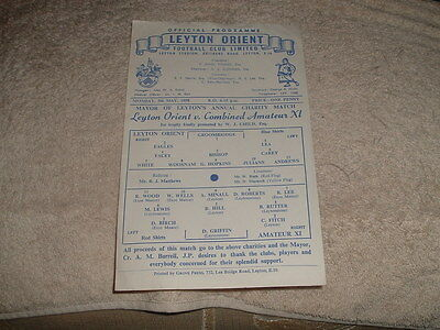 LEYTON ORIENT v COMBINED AMATEUR Xl 5th May 1958