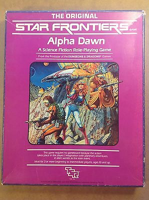 Star Frontiers TSR Alpha Dawn sci fi rpg boxed rules set classic 1980's