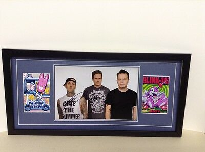 Blink 182 Hand Signed/Autographed Photograph and COA
