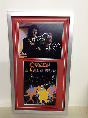 Queen Hand Signed/Autographed Photograph with a poster and COA