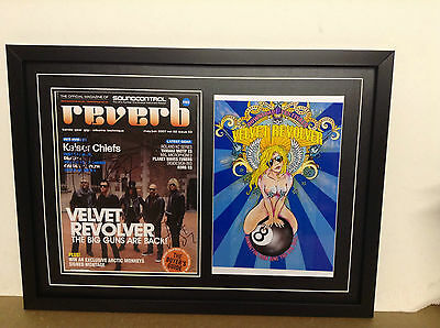 Velvet Revolver Hand Signed/Autographed Flyer with a poster and COA