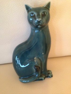 Vintage Poole Pottery Left Seated Blue Cat Barbara Linley Adams