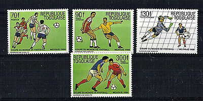 Togo Set Of 4 Commemorative Stamps Football World Cup 1986 Mnh