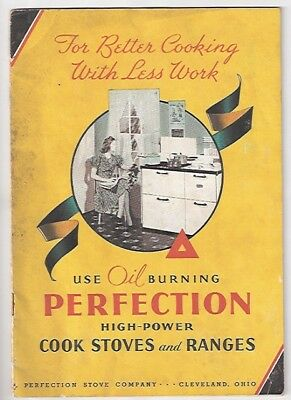 1940 AD Booklet Perfection Cook Stoves Ranges Cleveland