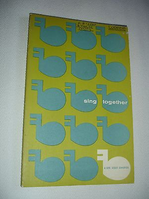 """Vintage """"Sing Together: A Girl Scout Songbook"""" ~1957~Paperback"""