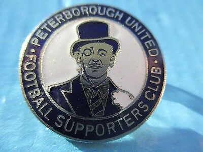 VINTAGE..PETERBOROUGH UNITED FOOTBALL SUPPORTERS CLUB..maker W.O.LEWIS PIN BADGE