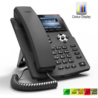 Brand New IP Phone SIP 2 Line Colour IP Phone For Business and Home PoE Enable