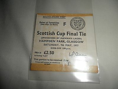 Scarce 1977 Scottish Cup Final Ticket