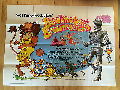 Walt Disney's Bedknobs and Broomsticks 1979 Re Release British Movie Quad