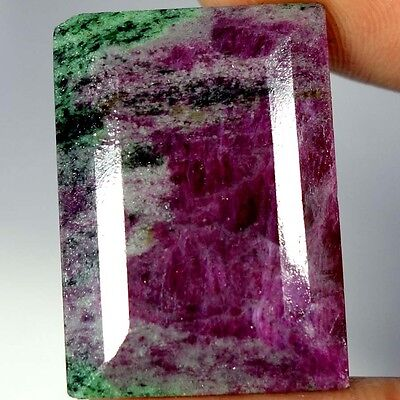 73.25Cts. 100% NATURAL ADORABLE RED GREEN RUBY ZOISITE OCTAGON CUT AAA GEMSTONES