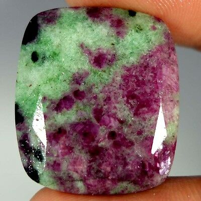 53.80Cts. 100% NATURAL MARVELOUS RED GREEN RUBY ZOISITE CUSHION CUT A+ GEMSTONES