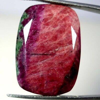 51.05Cts. 100% NATURAL MARVELOUS RED GREEN RUBY ZOISITE CUSHION CUT A+ GEMSTONES