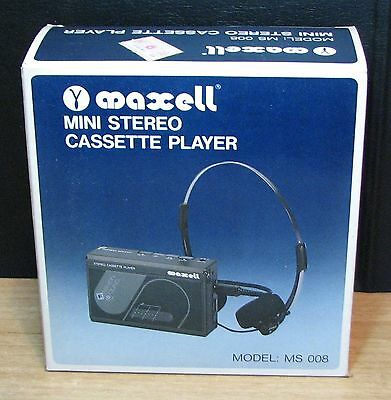 WALKMAN - MAXELL MS 008 - STEREO CASSETTE PLAYER - NUOVO NEW OLD STOCK - Vintage