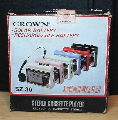 WALKMAN - CROWN SZ-36 - STEREO CASSETTE PLAYER - NUOVO NEW OLD STOCK - Vintage
