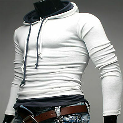 freestyle premium mens double string hoodies t-shirt_(White / size-  L)