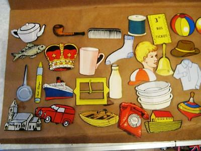 30 Qty 1950s EDUCATIONAL CARD  FIGURES/EVERY DAY ITEMS ALL DIFFERENT MINT COND..