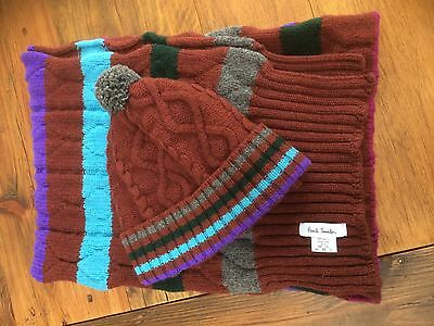 Paul Smith Knitted Hat And Scarf Set