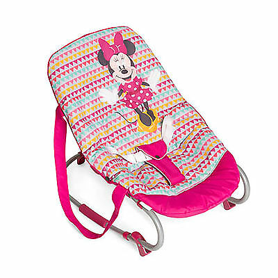 New Hauck Disney Minniegeopink Rocky Deluxe Baby Bouncer Rocker Chair From Birth