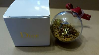 Christian Dior Christmas 2016 bauble filled with Dior confetti - original box