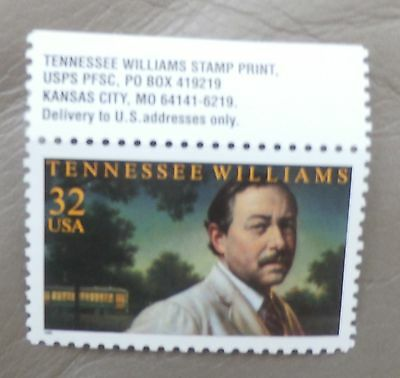 Tennessee Williams Stamp  Usa, - 32 Cent
