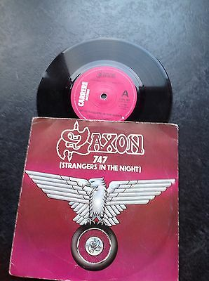 "Saxon - 747(Strangers In The Night)/See The Light Shining - 7"" Single."