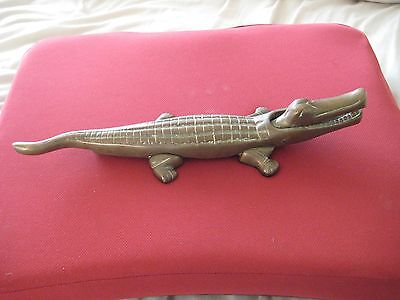 Collectable Brass Crocodile Nut Cracker  -  35cm long - weight 1614g