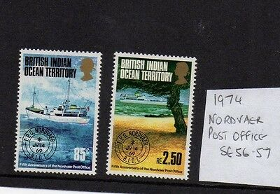 British Indian Ocean Territory 1974 Travelling Post Office SG 56/7 mint