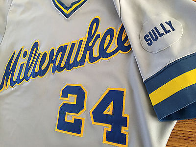 Ben Oglivie 1986 Milwaukee Brewers Game Worn Used Road Jersey with heavy use
