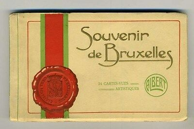 Souvenir de Bruxelles 20 Postcards in Booklet by Albert 1920's