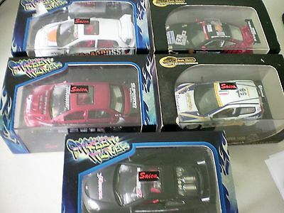 Job Lot 5 Saico 1:43 Scale Rally Car Diecast Models In Plastic Display Boxes