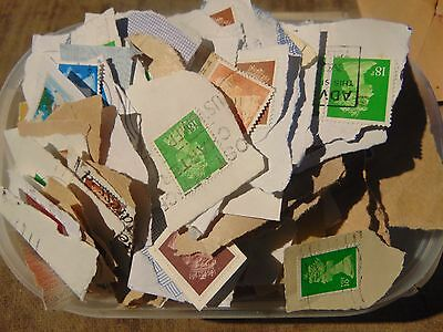 Kiloware (1) approx. 160grms of mainly GB Machin used stamps on paper unchecked