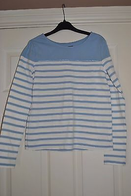 Girls Baby Blue Striped Top From Gap Size Xl 12 Yrs