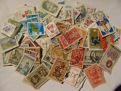 Poland a collection of 150+ different used stamps as picture off paper