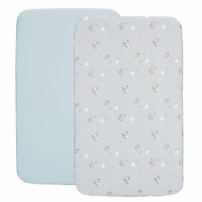 New Chicco Sky Next 2 Me / Lullago Crib Fitted Sheets From Birth
