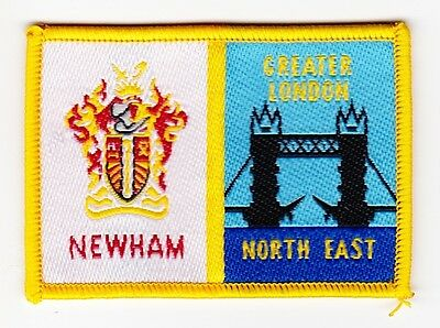 UK Scout District Badge NEWHAM DISTRICT  Variety 1
