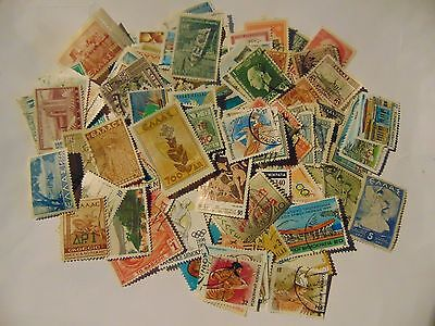 Greece  a collection of 125 different used stamps as picture off paper