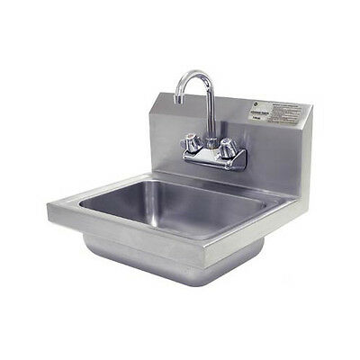 "Advance Tabco 17"" x 17.25"" Single Hand Wash Sink with Faucet"