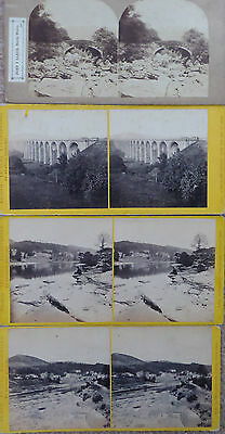 4 Stereoview Cards Of Wales